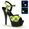 KISS-209PL Neon Lime Plaid/Black